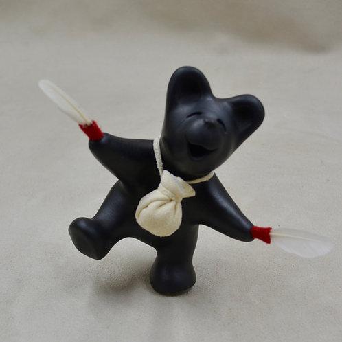 Mini Eagle Dancer Black Bear by Randy Chitto