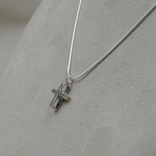 Hollow Cross Pendant on Sterling Silver Chain by Richard Lindsay
