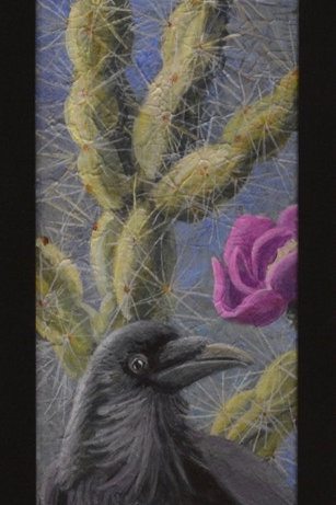"""""""Raven on Cactus"""" by Liza Myers"""