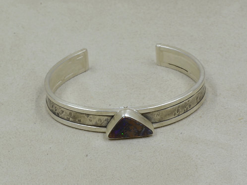 Boulder Opal and Sterling Silver Cuff by Joe Glover