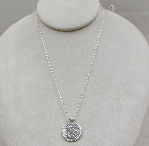 Celtic Medallion on Chain by Michele McMillan