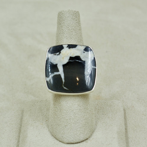 Medium Septarian Gronate, Sterling Silver 7x Ring by Sanchi & Filia