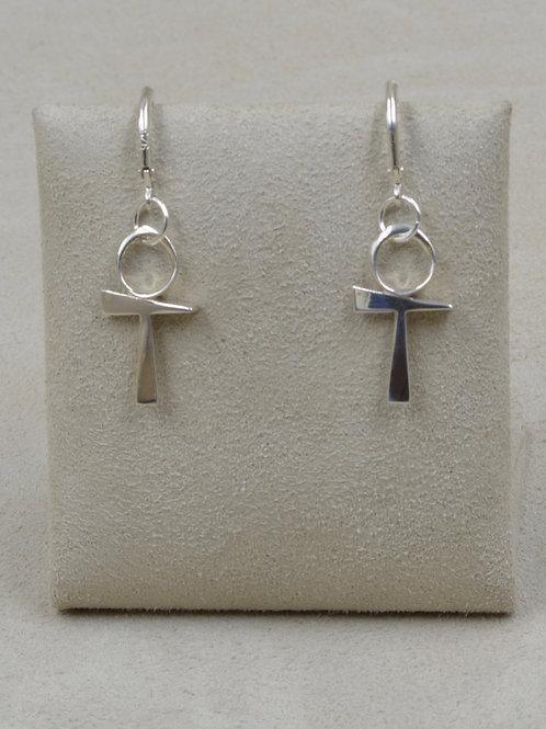 Sterling Silver Ankh Earrings by Charles Sherman