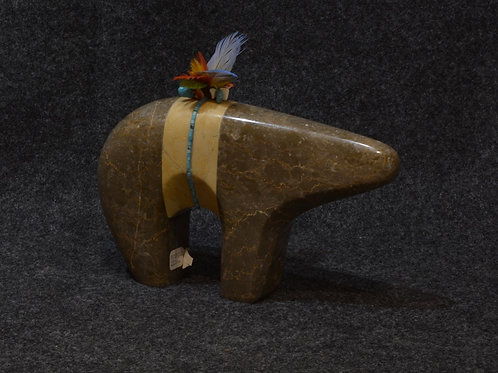 Marble Bear by Cliff Fragua, Jemez Pueblo