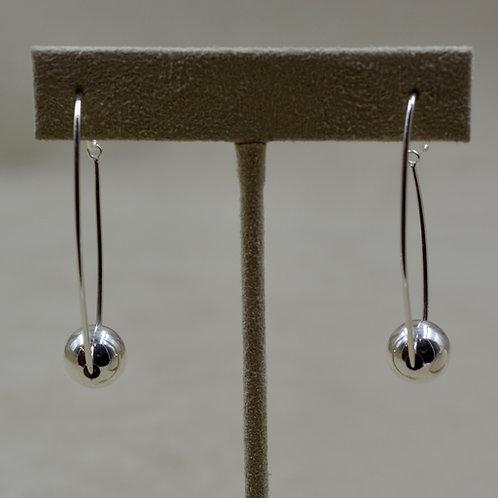 Long Sterling Silver Hoop Earrings by Sippecan Designs