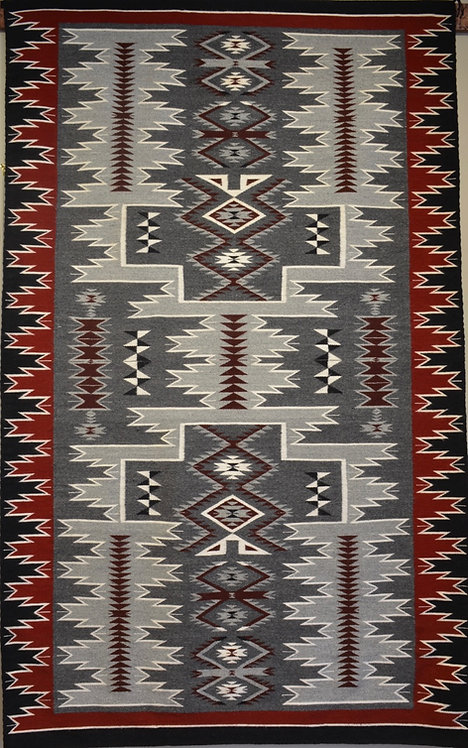 "Annette Bahe Begay - Storm Navajo Weaving - 89"" X 54"""
