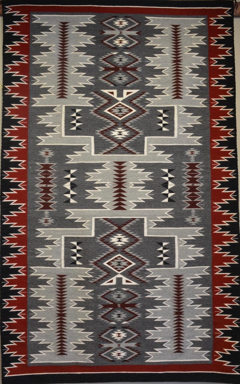 Annette Bahe Begay Storm Navajo Weaving 89 Quot X 54