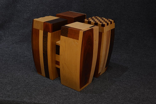 Four Square - Assorted Hardwoods by David Larson