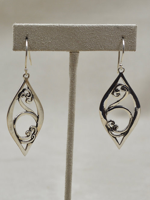 Round Vine & Leaf Earrings by Roulette 18