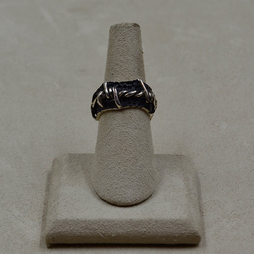Barbed Wire Ladies' Sterling Silver 6x Ring by JL McKinney