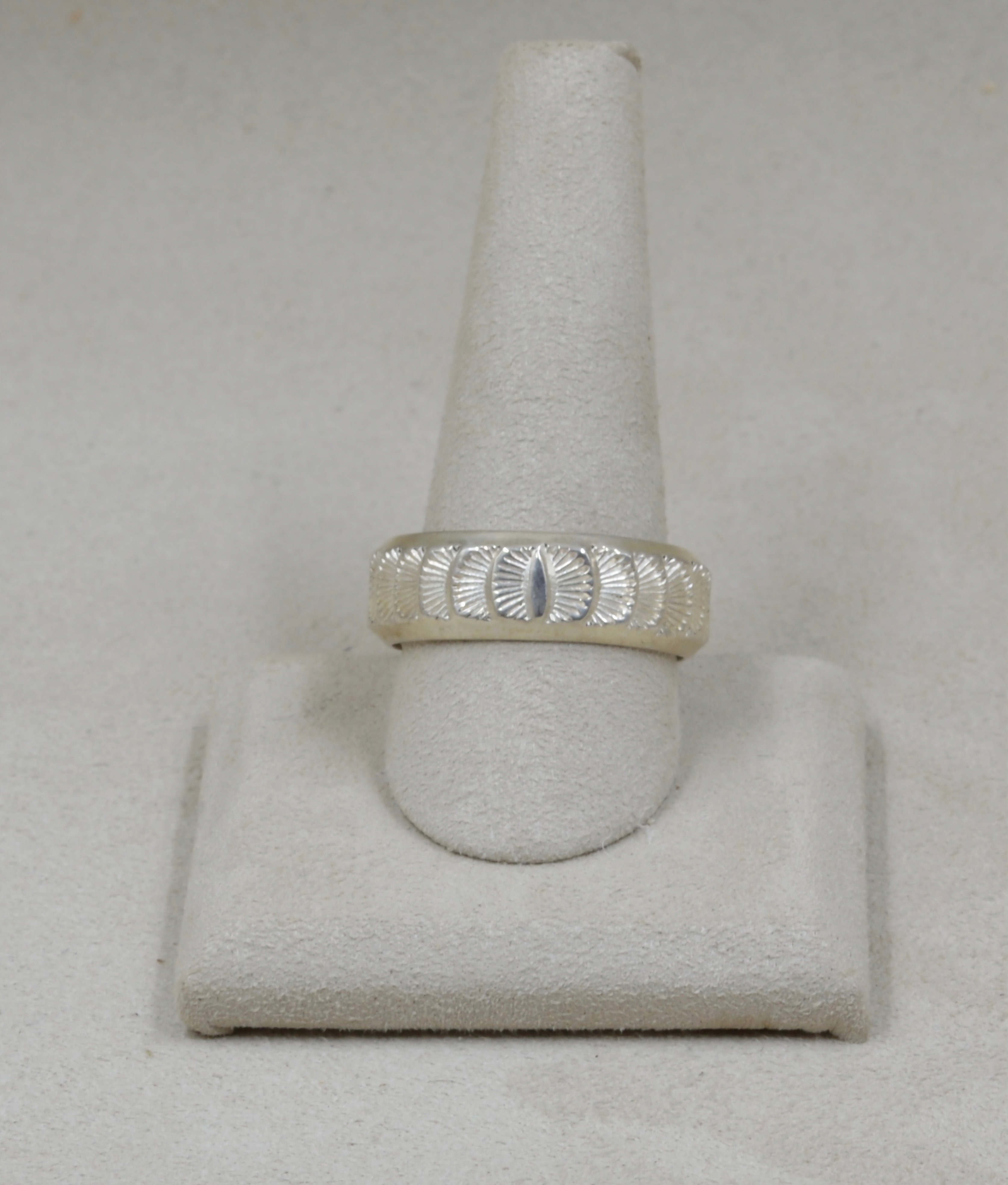 Stamped Band Sterling Silver 11 5x Ring By Fritz Casuse