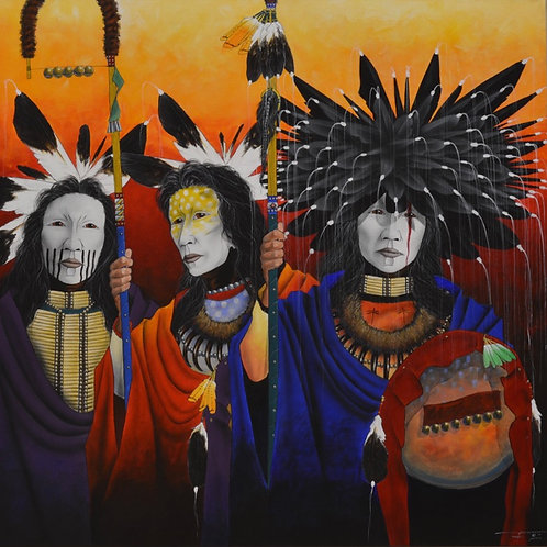 """""""We Stand, Waiting and Watching"""" by Yellowman, Navajo"""