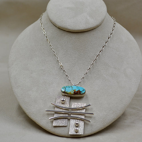 Sterling Silver Candelaria Reticulated Pendant on Chain by Jacqueline Gala