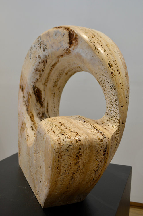 Navajo Gold & Travertine Wave, Early 90's, by Eddy Shorty