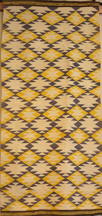 "Klagetoh - 1940's/60's Era Vintage Navajo Rug - 60"" x 29"""