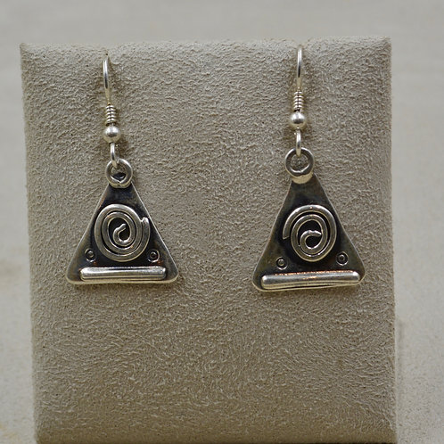 Sterling Silver Journey Wire Earrings by Robert Mac Eustace Jones