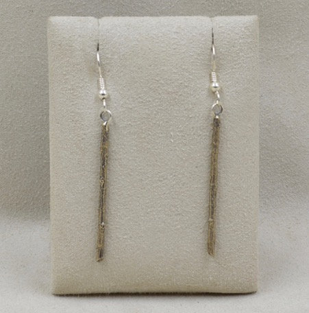Bronze Twig Earrings by Richard Lindsay