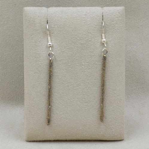 Bronze Twig Earrings by Richard Lindsay