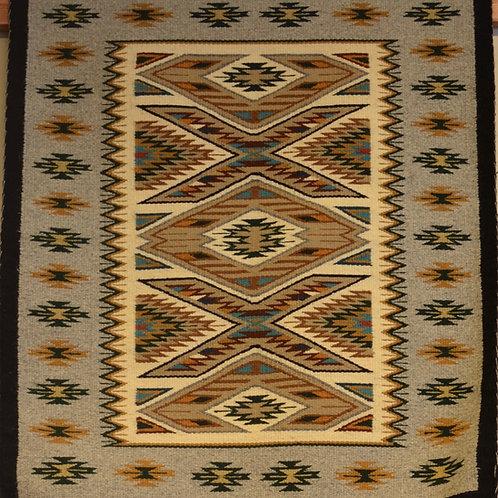 """Darlene Littleben Teec Nos Pos Navajo Weaving - 34"""" X 29"""""""