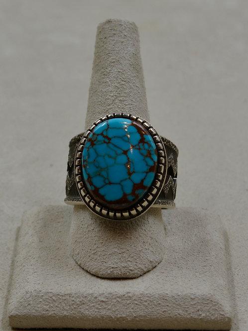 Hi-Grade Bisbee Turquoise Tufa Cast 12.75x Ring by Aaron John