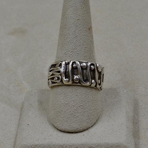 Arroyo Seco Sterling Silver 9x Ring by Robert Mac Eustace Jones