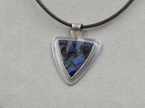Pietersite and Sterling Silver Pendant by Joe Glover