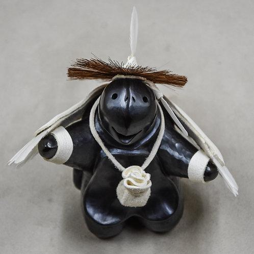 Mini Black Turtle Eagle Dancer by Randy Chitto