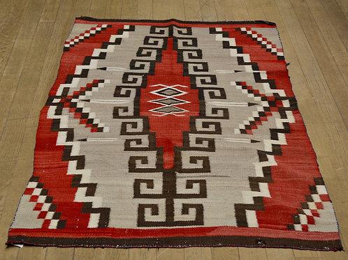 """Vintage Navajo Rug, Ca 1900 - 67"""" X 40"""""""