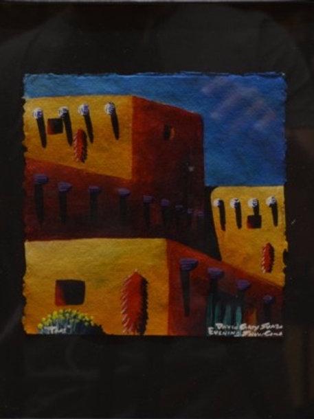 """""""Pueblo Night Scene #1"""" by David Gary Suazo, Taos Pueblo"""