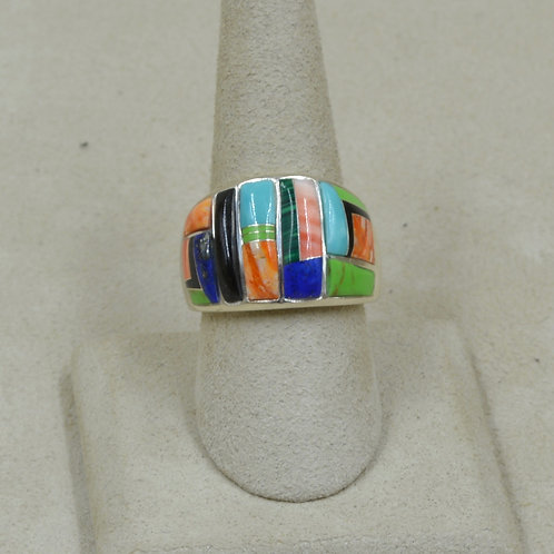 Gallup Multi-Stoned Sterling Silver 8.5x Ring by GL Miller Studio