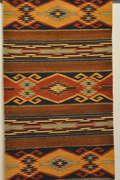 "Zapotec Paneled Geometric Rug - 30"" X 60"""