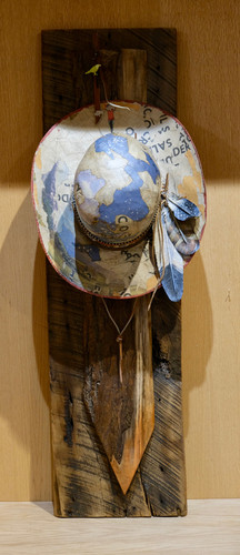 Quot Blue Sky Hat Quot Mixed Sculpture By Valerie Dunning Edwards