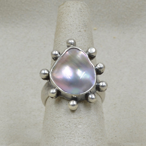 Sustainably Farmed & FT Mabe Pearl & SS 7X Ring by Michele McMillan