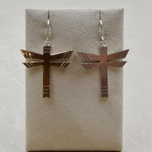 Sterling Silver Dragonfly Wire Earrings by John Paul Rangel
