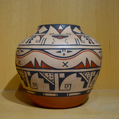 Large Rag Polished Mica Polychrome Pot by Erik Fender - San Ildefanso Pueblo