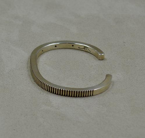 Sterling Silver Coin Edge Stacker Cuff by John Paul Rangel