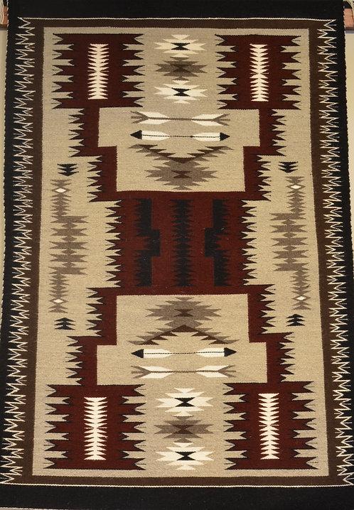 "Charlene Tahonnie - Storm Navajo Weaving - 59"" X 39"""