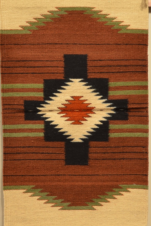 "Zapotec Four Directions Rug - 36"" X 24"""