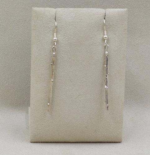 Sterling Silver Twig Earrings by Richard Lindsay