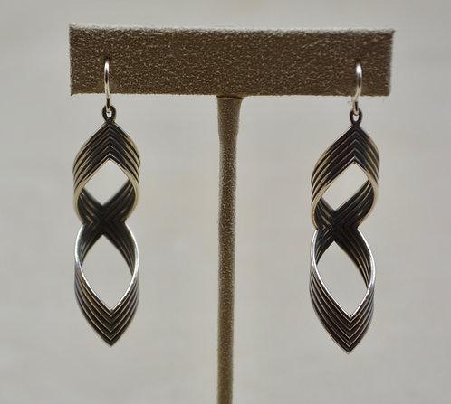 Sterling Silver Figure 8 Earrings by Steve Taylor