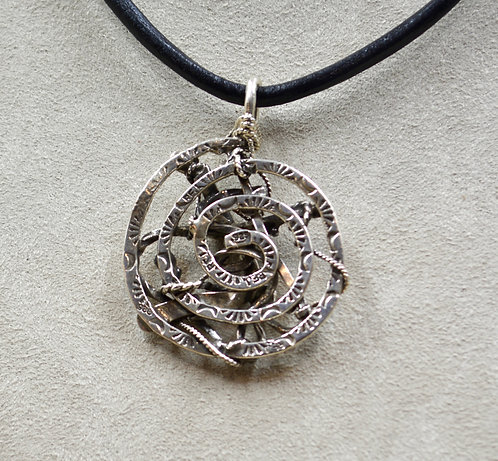 Arroyo Seco Sterling Silver Hand-Forged Pendant by Robert Mac Eustace Jones