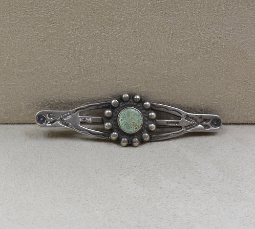 Vintage Sterling Silver & Turquoise Small Pin
