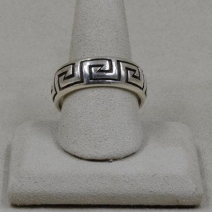 Sterling Silver Water 8X Ring by Michael & Melanie Lente