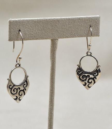 Sterling Silver Small Scroll Earrings by Roulette 18