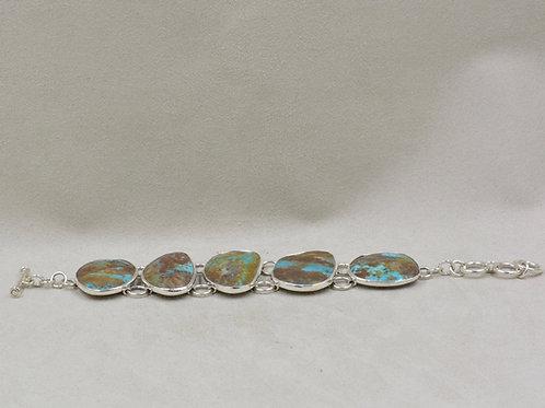 Boulder Turquoise Link Bracelet by Richard Lindsay