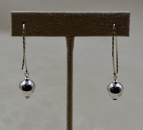 Long Sterling Silver Fancy WireDangle Earrings by Sippecan Designs