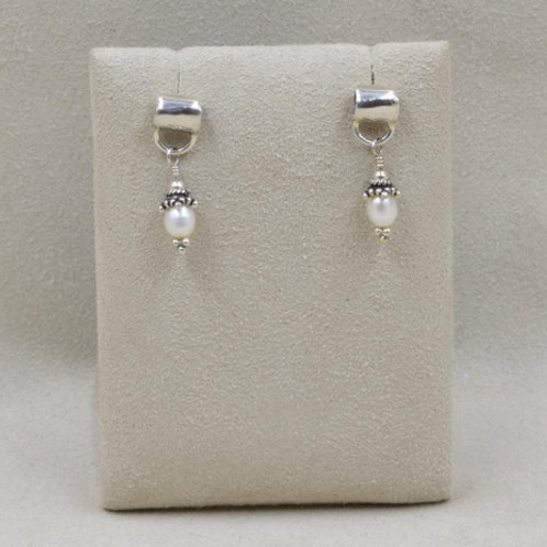 Roc with Freshwater Pearl Earrings by Richard Lindsay