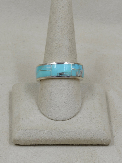 Campitos Turquoise & Sterling Silver 9.5x Ring by GL Miller Studio