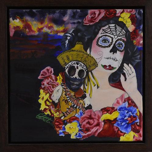 """""""Bandito de Amor"""" - Oil on Canvas - 14"""" X 14"""" - by Carlo Martinez"""