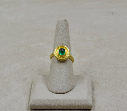 22k Gold & Emerald 7.25x Ring by Pamela Farland